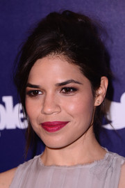 America Ferrera was rocker-chic with her messy updo at the Entertainment Weekly and People celebration of the New York Upfronts.
