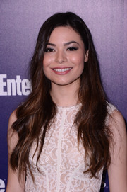 Miranda Cosgrove sported ultra-long waves at the Entertainment Weekly and People celebration of the New York Upfronts.