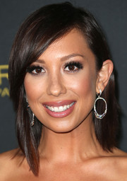 Cheryl Burke stuck to her usual shoulder-length straight 'do when she attended the Entertainment Weekly pre-Emmy party.
