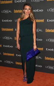 Natalie Zea went for simple elegance in a green one-shoulder gown during the Entertainment Weekly pre-Emmy party.