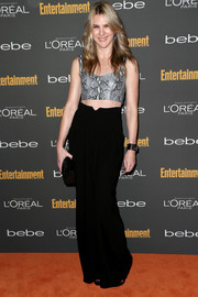 Lily Rabe looked fierce and trendy in a snakeskin crop-top during the Entertainment Weekly pre-Emmy party.