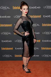 Holland Roden worked the red carpet in a sultry sheer-panel LBD during the Entertainment Weekly pre-Emmy party.