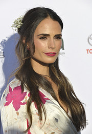 Jordana Brewster went for some boho romance with this half-up wavy hairstyle at the 2017 EMA Awards.