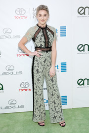 Chloe Lukasiak looked effortlessly cool in a two-tone lace jumpsuit by Alexis at the EMA Awards.