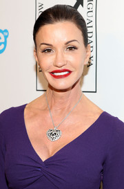 Janice Dickinson slicked her hair back in a classic bun for the Make Equality Reality event.