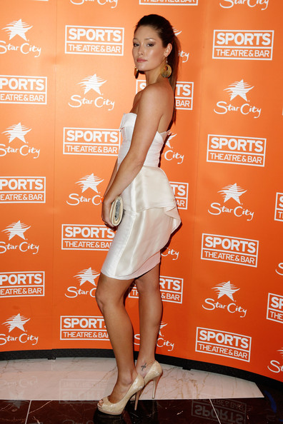 Erin McNaught arrives for the official launch of Sports Theatre at Star City ...