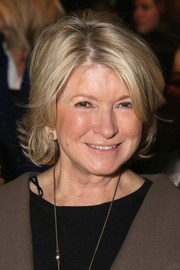 Martha Stewart wore her hair in a short bob at the Erin Fetherston Fall 2015 show.