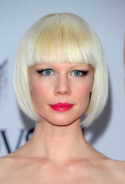 Erin Fetherston Pink Lipstick [hair,face,hairstyle,blond,chin,lip,eyebrow,bangs,head,beauty,arrivals,erin fetherston,alice tully hall,new york city,lincoln center,cfda fashion awards]