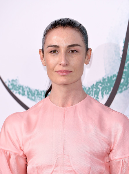 Erin O'Connor Ponytail [hair,face,skin,pink,hairstyle,beauty,shoulder,fashion,eyebrow,lip,arrivals,erin oconnor,london,england,the serpentine gallery,serpentine galleries summer party,the serpentine galleries summer party]