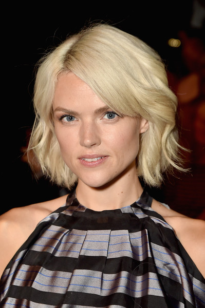 Erin Richards Bob [shows,hair,face,blond,hairstyle,bob cut,eyebrow,beauty,chin,layered hair,lip,bibhu mohapatra,erin richards,front row,gallery 1,new york city,skylight clarkson sq,bibhu mohapatra fashion show,new york fashion week]