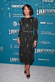 Gabrielle Union opted for a beaded LBD by Prada when she attended the Essence Black Women in Hollywood Awards.