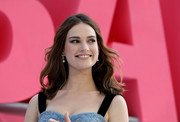 Lily James opted for a simple yet lovely wavy hairstyle when she attended the European premiere of 'Baby Driver.'