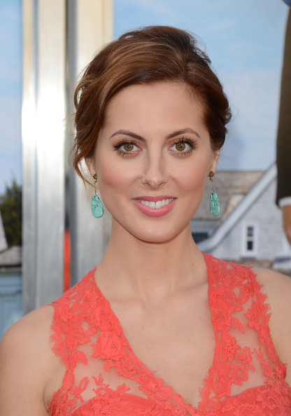 Eva Amurri Martino Dangling Turquiose Earrings [thats my boy,hair,face,hairstyle,eyebrow,lip,beauty,chin,skin,premiere,dress,eva amurri martino,arrivals,regency village theatre westwood,los angeles,california,columbia pictures,premiere,premiere]