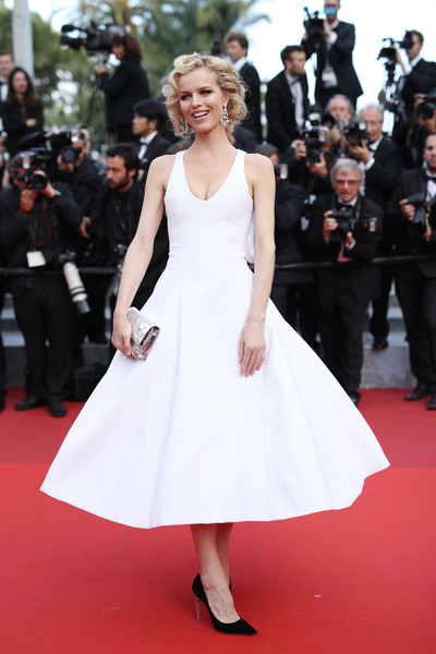 Eva Herzigova Cocktail Dress [the unknown girl,red carpet,dress,fashion model,carpet,clothing,premiere,fashion,flooring,gown,event,premiere,eva herzigova,cannes,france,red carpet arrivals,cannes film festival,palais des festivals]