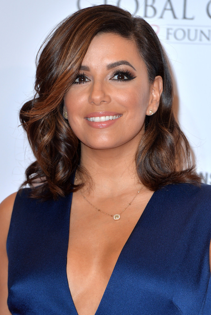Eva Longoria Medium Curls Shoulder Length Hairstyles