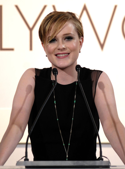 Evan Rachel Wood Dangling Diamond Earrings