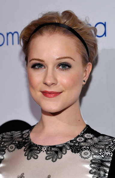 Evan Rachel Wood Messy Cut [hair,face,hairstyle,eyebrow,lip,chin,beauty,skin,forehead,blond,evan rachel wood,andrea bocelli,beverly hills,california,beverly hilton hotel,andrea bocelli foundation,launch]