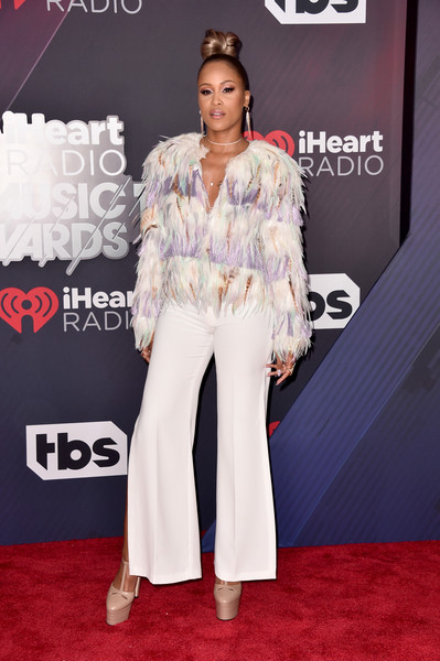 Eve Embellished Top [red carpet,clothing,carpet,premiere,flooring,fashion,event,suit,performance,neck,arrivals,iheartradio music awards,inglewood,california,tbs,tnt,trutv,the forum]