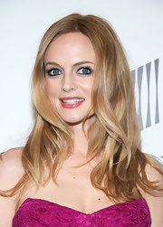 A shiny pink gloss made Heather Graham's pearly whites shine on the red carpet.