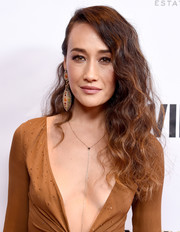 Maggie Q wore her hair in half-pinned curls at the Evening in China with WildAid event.