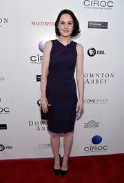 Michelle Dockery's deep grape frock was a totally classic look on the red carpet.