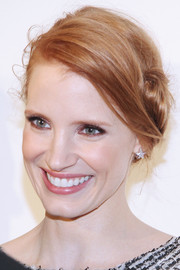 Jessica Chastain's braided updo at the Evening Honoring Karl Lagerfeld event had a vintage-glam feel.