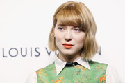 Lea Seydoux sported a youthful bob with bangs at the Evening Honoring Louis Vuitton event.