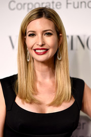 Ivanka Trump opted for a simple straight hairstyle when she attended the Evening Honoring Valentino Gala.
