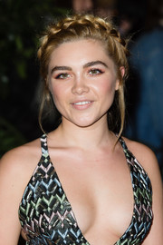 Florence Pugh attended the 2016 Evening Standard Film Awards wearing her hair in a cute crown braid.