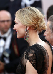 Cate Blanchett looked romantic with her low, twisted bun at the 2018 Cannes Film Festival opening gala.