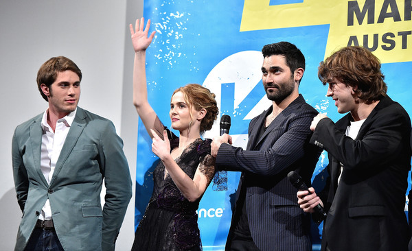 More Pics of Zoey Deutch Lace Dress (1 of 31) - Zoey Deutch Lookbook - StyleBistro [everybody wants some,event,fun,premiere,conversation,white-collar worker,gesture,performance,actors,temple baker,tyler hoechlin,blake jenner,zoey deutch,l-r,film interactive festival,sxsw music,screening]