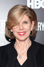Christine Baranski attended the New York special screening of 'Everything is Copy — Nora Ephron: Scripted & Unscripted' wearing her hair in a classic bob.