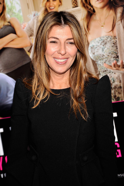 Nina Garcia wore her hair in her signature long loose style at a screening of 'What To Expect When You're Expecting.'