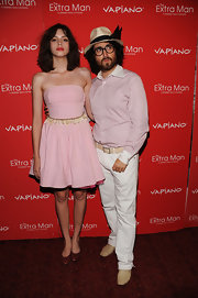Charlotte Kemp Muhl unleashed her inner ballerina in a strapless pink dress.