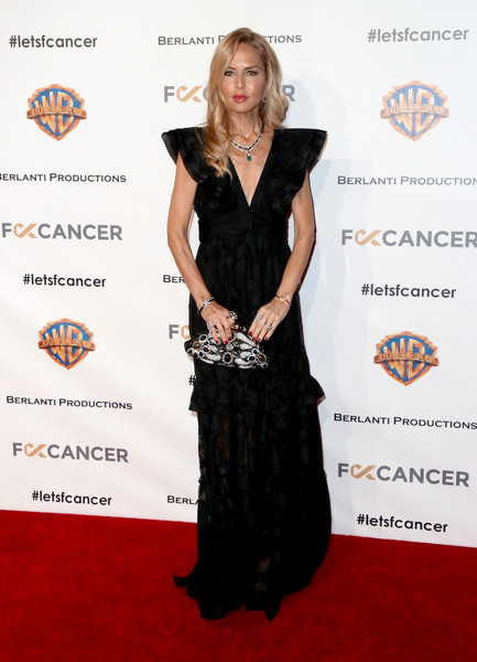 Rachel Zoe was boho-glam in a black gown with butterfly sleeves at the Barbara Berlanti Heroes Gala.