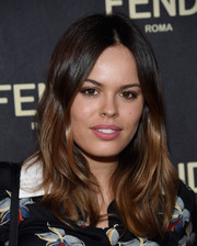 Atlanta de Cadenet sported a center part and glossy waves at the Fendi New York flagship store opening.