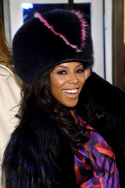 June Ambrose rocked a huge fur hat of her own design during the Fendi New York flagship store opening.