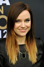 Amy MacDonald rocked trendy dip-dyed ombre tresses at the FIFA Ballon d'Or Gala 2012 in Zurich, Switzerland.
