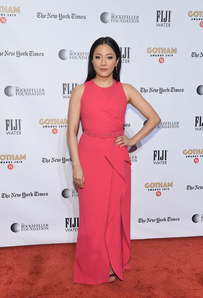 More Pics of Constance Wu Red Nail Polish (2 of 3) - Red Nail Polish Lookbook - StyleBistro [red carpet,clothing,dress,red,carpet,shoulder,premiere,hairstyle,pink,fashion,fiji water,constance wu,ifp gotham awards,new york city,cipriani wall street]