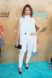 Allison Holker looked modern in a sleeveless white pantsuit during OCRF's Super Saturday LA.
