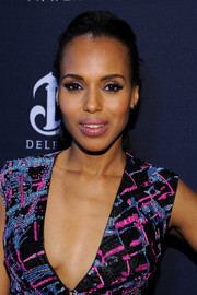 Kerry Washington kept it casual with this ponytail at the Weinstein Company Oscar nominees dinner.