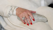 Elizabeth Taylor topped off her ultra-glam look with a pearl and diamond ring and matching bracelet.