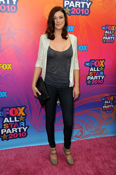 More Pics of Adrianne Palicki Medium Curls (1 of 3) - Adrianne Palicki Lookbook - StyleBistro