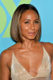 Jada Pinkett Smith kept it simple and sleek with this center-parted bob at the Fox Programming Presentation.
