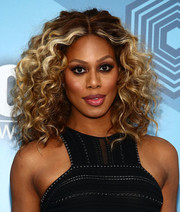 Laverne Cox looked downright fab with her voluminous curls at the Fox 2016 Upfront.