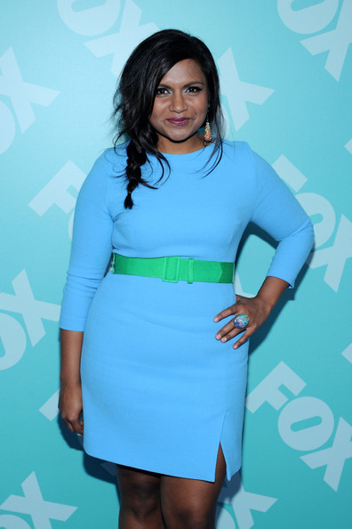More Pics of Mindy Kaling Loose Braid (2 of 4) - Mindy Kaling Lookbook - StyleBistro [fox 2103,clothing,blue,turquoise,cocktail dress,dress,fashion,electric blue,long hair,footwear,black hair,mindy kaling,programming presentation post-party,new york city,wollman rink - central park]