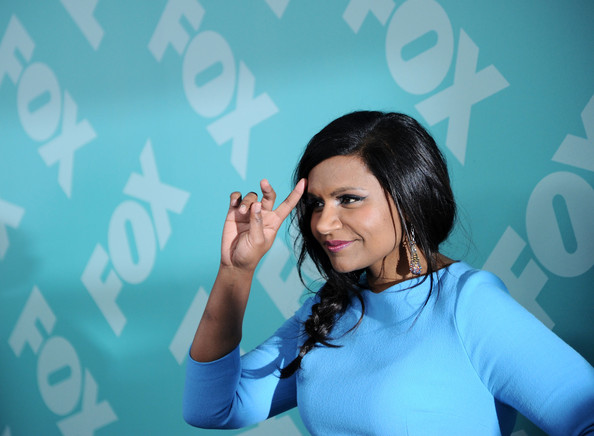 More Pics of Mindy Kaling Loose Braid (4 of 4) - Mindy Kaling Lookbook - StyleBistro [fox 2103,arm,gesture,fun,black hair,hand,room,finger,smile,photography,happy,mindy kaling,programming presentation post-party,new york city,wollman rink - central park]