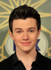 Chris Colfer showed off a short and spiked 'do at the Fox All-Star bash.