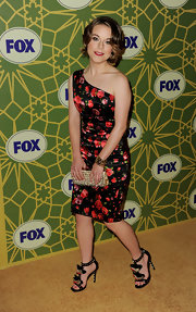 Tina Majorino wore a lovely rose-print evening dress for the Fox All-Star Party.
