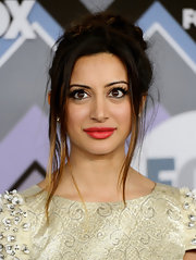 Noureen DeWulf had her ombre locks tied in a messy updo for the FOX party.